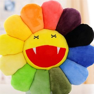 Wholesale Sun Flower Emoji Cushion Plush Toy Pillow Comfortable Lazy Sofa Cushions Home Decorations Doll Gift Smile Colorful Bardian yh1C1