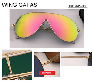 Wholesale 2019 new Unique big size Sunglasses Women Brand Designer Vintage Shield gradient Sun glasses Female uv400 flash wing gafas Sunglass rd3597