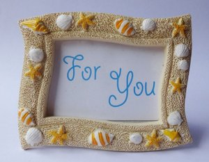 Wholesale Beach Theme Lovely Sea Shell Starfish Resin Photo Frame Wedding Favors Gifts for Guest W8749