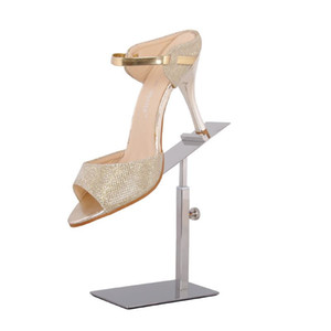 Wholesale 50 Shoes Holder Matte Stainless Steel Brushed Shoe Tree Showing Holder Shoe Care Rack Shoe Display Stand