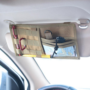 Wholesale Car styling Car Sun Visor Card Package Holder Multifunction In Car Pocket Organizer Pouch Bag Pocket Auto Tidying Accessories
