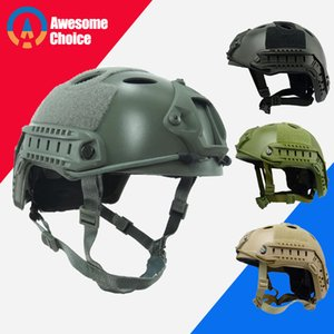 Wholesale Fast PJ Tactical Helmet Army Military Cover Casco Airsoft Helmet Sports Accessories Paintball Gear Jumping Protective Face Mask T191226