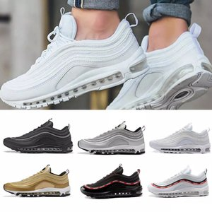 Comfortable Running Shoes s OG Gold Silver Bullet Triple Black White Mens Womens Trainer Sports Sneakers Size 36-46