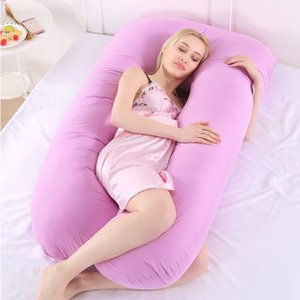 Wholesale side sleepers pillow for sale - Group buy Pregnancy Pillow Side Sleeper Pregnant Women Bedding Full Body U Shape Cushion Long Sleeping Multifunctional Maternity Pillows