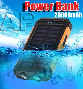 Wholesale Top selling Universal mAh Portable Solar power bank battery charger with LED flashlight and compass for Mobile Phones outdoor camping