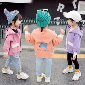 kids designer jackets Baby coat clothes 2019 autumn Girl leopard cartoon children toddler boy boutique clothing Korean short cartoon jacket on Sale