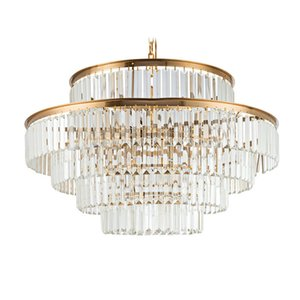 Wholesale Post-modern Crystal Chandelier Living Room, Dining Room, Villa Club, High-end Hotel Lightweight and Luxury Circular Crystal Lamp