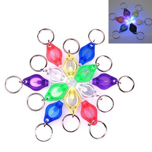 Wholesale DHL Mini Torch Key Chain Ring Keyring White LED Lights UV Lights LED Bulbs Micro Light LED Keychain Flashlight Mini Light