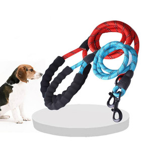 Wholesale Nylon Dog Leashes with Reflective String for Medium Large Dog Puppy Leashes with Buckle Easy Breakaway Durable Dog Lead Products