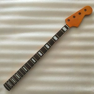 Wholesale Yellow 20 frets Maple Jazz bass Guitar Neck part rosewood Fingerboard 4 string