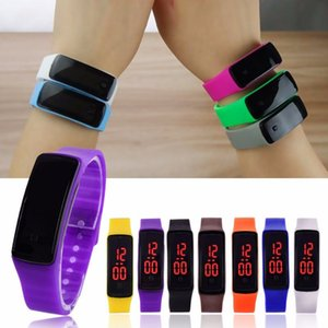 Trendy Sports LED Watches Candy Jelly men women Kids Silicone Rubber Belt Touch Screen Digital Watches Bracelet Wrist watch Wristwatch hot