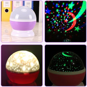 Wholesale Valentine s Day Gift LED Stars Starry Night Lights Projector Kids Gifts Moon Colorful Lamp Battery USB Bedroom Decor Light Lamp DH0930 T03