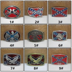 Wholesale Fashion belts Confederate Southern South Rebel Flags Civil Flag Belt Buckles Civil War Flag Belt Buckles Dixie Flag Buckles C009