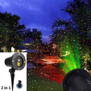 Outdoor Garden Lawn lamps 2 IN 1 Moving Full Sky Star light Christmas Laser Projector Lamp LED MOTION Stage Light Landscape Lawn Garden Ligh