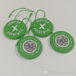 Wholesale Hot Sale Cheap Verified Stock X QR Code Tag Stock X Tag Green Circular Tag Plastic Verified Authentic Shoes