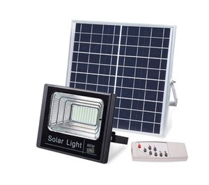 Wholesale 60W Outdoor Security Lights Waterproof IP65 Solar Power LED Flood Light With on off Remote for Yard Garden Swimming Pool Pathway Deck