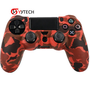 Wholesale ps4 prices resale online - SYYTECH Factory Price Camouflage Handle Silicone Case Non slip Anti sweat Controller Cover for PS4 Slim Pro