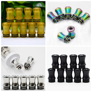 Rainbow Stainless Steel PEI POM 510 Drip Tip Mouth Wide Bore Mouthpiece Innovative Design Fit TFV8 BABY Tank TFV12 Baby Prince Atomizer on Sale
