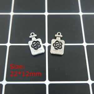 Wholesale Kawaii metal perfume bottle charms pendants for jewelry making accessories bracelets necklace earrings making