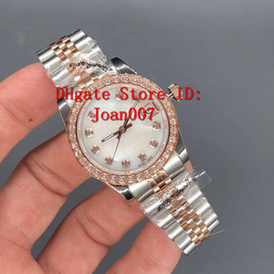 Wholesale Luxury Watch Best Quality President Diamond Bezel Women Stainless Watches Lowest Price Womens Ladies Automatic Mechanical Wristwatch mm