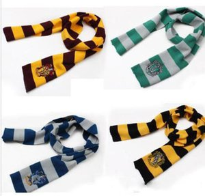 Wholesale New Fashion Colors College Scarf Harry Potter Gryffindor Series Scarf With Badge Cosplay Knit Scarves Halloween Costumes Children