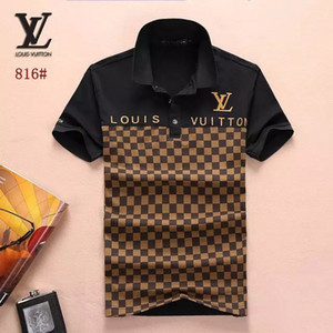 Wholesale 2019 Poloshirt Solid Polo Shirt Men Hip hop Bermuda Polo Shirts Long Sleeve Men s Basic Top Cotton Polos For Boys Brand Designer Polo