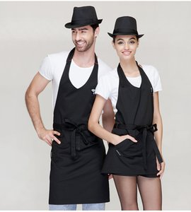 Kitchen aprons home cooking apron chef aprons cafe aprons Cooking Kitchen Apron For Woman Men Chef MMA2098 on Sale
