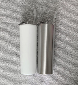 20 oz DIY Heat Sublimation Skinny Tumbler double Stainless Steel bottle Insulated Tapered Tumbler for free shipping A12