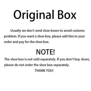 Wholesale 5 US dollars Original shoe box for brand running shoes basketball shoes soccer cleats and other shoes