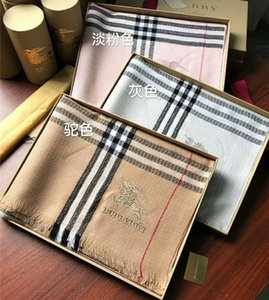 Wholesale 2019 brand new scarf classic plaid design wool cape fashion men s and women s brand shawl size cm