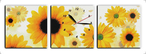 Wholesale paintings sunflowers resale online - Sunflowers Clock dial home decor painting Handmade Cross Stitch Embroidery Needlework sets counted print on canvas DMC CT CT