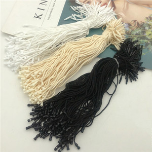 Good quality Cotton clothes garment hang Tag String Snap Lock Pin Loop Fastener Ties For product tags