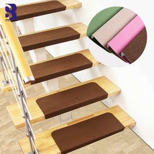 Wholesale step rugs resale online - SunnyRain Piece Free installation Stair Mat Self adhesive Stair Treads Rug Non Skid Step Carpet x21cm x21cm