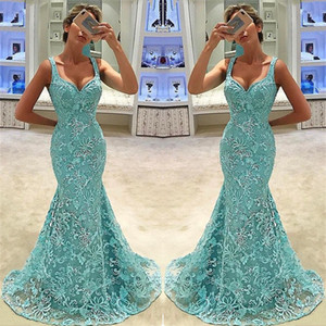 Wholesale Mermaid Prom Dresses Long 2019 Bead Lace Formal Evening Gowns Cocktail Party Ball Quinceanera Sweet 16 Dress Black Girls Celebrity Gown