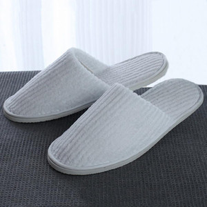 Disposable Slippers Coral Fleece Anti-slip Home Guest Thicken Travel Hotel White Soft Comfortable Delicate Disposable Slippers DH0610