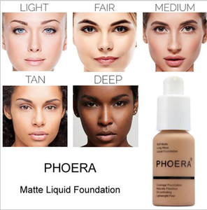PHOERA LADY Foundation Base Makeup Professional Face Matte Finish Liquid whitening Concealer Cream Waterproof Brand Natural Cosmetic on Sale