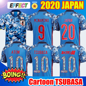 Wholesale 2020 Japan Soccer Jersey Thailand Captain OZORA TSUBASA OLIVER ATOM MINAMINO KAGAWA Football Shirts Mens Kids Kit Cartoon Number