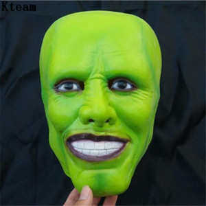 Wholesale jim carrey mask for sale - Group buy Funny Cool Film The Jim Carrey Movies Mask Cosplay Green Mask Costume Adult Fancy Dress Face Halloween Masquerade Party Cosplay Mask
