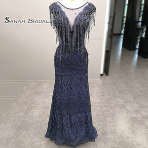 5482 Sexy Lace Mermaid Sleeveless Beading High End Quality Evening Party Dresses Hot Sales Prom Dress with Tassel on Sale