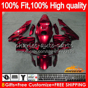 OEM Injection For HONDA CBR 600RR 600F5 CBR600F5 CBR600 RR 03 81HC.132 wine red hot CBR600RR CBR 600 RR F5 03 04 2003 2004 100% Fit Fairing