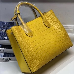 Wholesale Authentic Real Crocodile Belly Skin Lady Large Yellow Purse Genuine Alligator Leather Female Handbag Women s Single Shoulder Bag