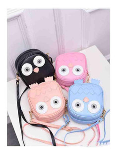 Wholesale Children Cute Purse Handbag Owl Women Messenger Bags Summer Crossbody Shoulder Bag with Belt Strap Lady Clutch Purses Phone girls gifts