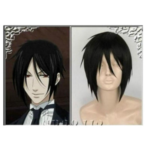 Size: adjustable synthetic wigs Accessories WIG Suyu free shipping Black Butler Sebastian Michaelis Short Black Cosplay Wig Hair