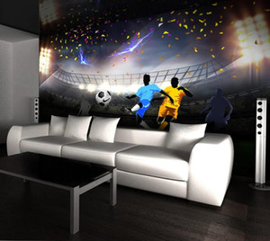 Wholesale football photos resale online - Custom Photo Wallpaper Mural D HD Green Football Field Wall Decorative Living room sofa wallpapers home decor