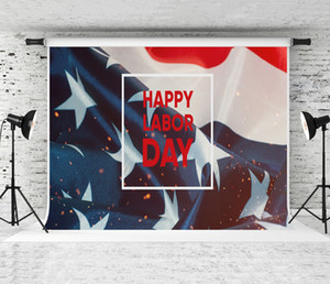 Dream 7x5ft Happy Labor Day Banner Background American Patriotic Photography Backdrop USA Flag Decor Photo Shoot Studio Prop