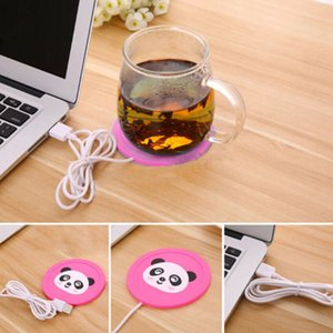Wholesale USB Heated Soft Plastic Cup Mat Warm Cup Heating Mat Warm Pad Electric Insulation Coaster for Coffee Tea PVC Warmer Heater