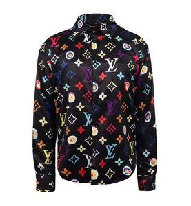 Brand New Men's Dress Shirts High Street Fashion Luxury Casual Shirt Men Medusa Shirts Business Slim Fit Shirts Q0004
