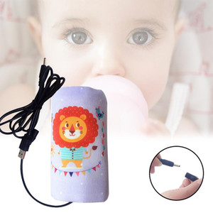 Wholesale USB Heating Milk Baby Bottle Warmer Bag Thermal Insulation Bag Outdoor Portable Milk Heater Warm Tool