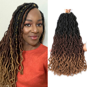 18 Inch Gypsy Faux Locs Crochet Hair Dreadlocks hair Extensions Ombre Goddess Locs Crochet Braiding Hair Extensions