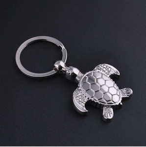 Hot Selling Sea Turtle Key Chain Silver Metal Keychain Ocean Animal Fashion Accessories Car Key Buckle Creative Gifts